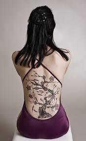 cherry blossom tree feminine on back tattoos book