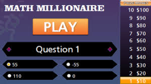 fractions and decimals to percents millionaire game