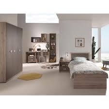 vipack emma single bed nightstand 3 door wardrobe desk and