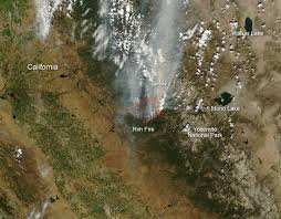 Wildfire Cali by Wildfires California Rim Fire Seen From Space