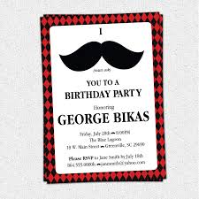 60th Birthday Invitation Card Mustache Birthday Party Invitations Vertabox Com
