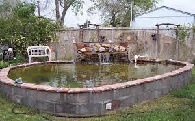 Small Backyard Pond Ideas by Pond Inground Pond Above Ground Pond Plastic Pond Tub