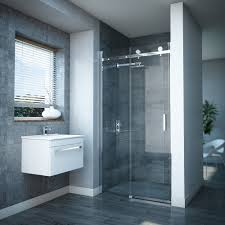 nova frameless sliding shower door at victorian plumbing uk