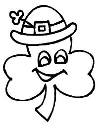 leaf clover wearing irish hat coloring leaf