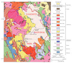 Sequoia National Park Map Geology Of The Yosemite Area Wikipedia