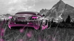 pink mercedes mercedes benz slr mclaren crystal nature car 2014 el tony