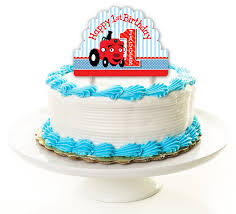 tractor cake topper tec the tractor party personalized cake topper