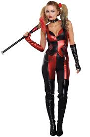 Superhero Halloween Costumes Women Harlequin Blaster Superhero Costume Ebay