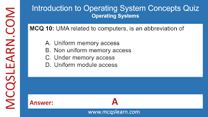 introduction to operating systems concepts quiz mcqslearn free