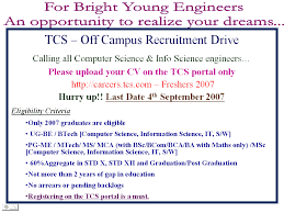 Computer Science Engineering Resumes For Freshers Sample Resume For Tcs Freshers Resume Ixiplay Free Resume Samples