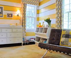 Yellow Striped Curtains Innovative Horizontal Striped Curtains Look Dc Metro Contemporary