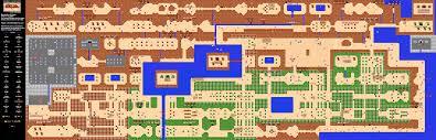 The Legend Of Zelda A Link Between Worlds Map by The Legend Of Zelda Overworld Quest 2 Nes Map Map Room