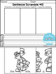 free sentence building for preschool and kindergarten these