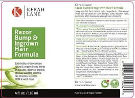 essential oil for ingrown hair amazon com kerah lane organic razor bump ingrown hair formula