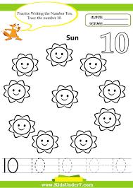 kids under 7 number tracing 1 10 u2013 worksheet part 1 αριθμοι