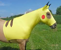 pikachu costume for horses pikachu sleezy