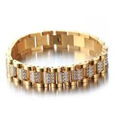 rolex bracelet diamonds images Gold stainless cnc lab diamond iced out rolex braceletbracelets jpg