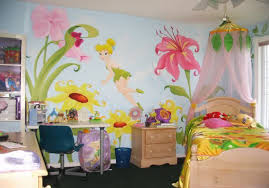 tinkerbell decorations for bedroom bedroom girl bedrom with colorful tinkerbell bed near brown wood