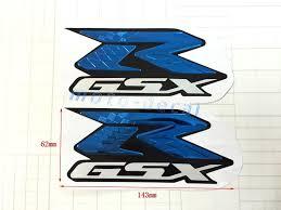 gsxr emblem gsxr 600 1000 raised 3d chrome blue decal emblem fairing sticker