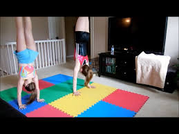gymnastics at home youtube