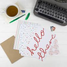personalised wordy letter writing set by the green gables