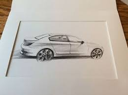 bmw 550i e60 5 series design sketch rendering matred from bmw ebay