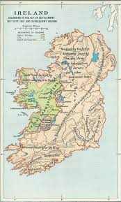 ireland map after act of settlement 1653