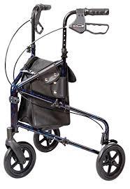 senior walkers with wheels walker 3 wheel trio roller walker carex health