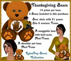 second marketplace lmn thanksgiving bears raineday