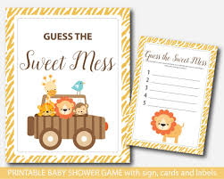 baby shower jungle guess the sweet mess game jungle sweet mess