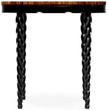 Quatrefoil Side Table Twisted Leg Quatrefoil Side Table Black Leg