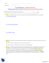 temperature measurement instrumentation measurements
