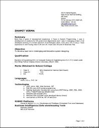 best resume doc format resume for study