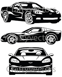 2009 c6 corvette vector file