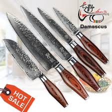 popular japanese kitchen knife set buy cheap haoye piece damascus kitchen knives set japanese steel quality slicer dicing mincing universal cutter