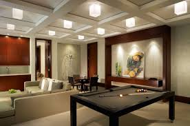 interior luxurious modern basement living room remodeling ideas