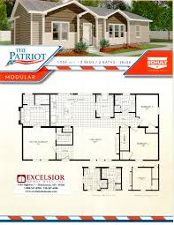 Floor Plans For Trailer Homes Schult Homes Patriot Modular Home Plan
