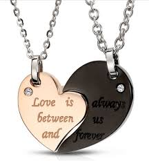 couple love heart necklace images Heart shape necklaces for couple love is always between us and png
