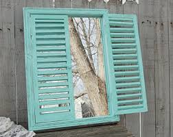 Shabby Chic Shutters by Mirror Shutters Mirror Wood Window White Hand Painted