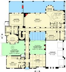 Courtyard Plans Plan W16377md Tuscan Home With Two Courtyards E Architectural