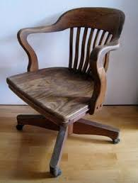wooden rolling desk chair price reduced antique wooden swivel bankers desk chair vintage
