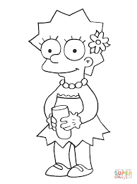 maggie is watching tv coloring page free printable coloring pages