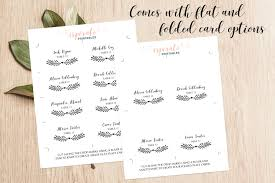 100 escort cards template free thank you card templates