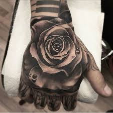 rose on hand tattoo tattoo collections