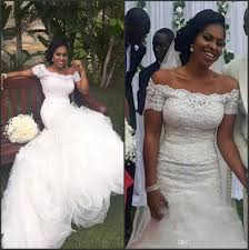 2017 south african nigerian plus size wedding dresses off the