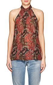paisley blouse raquel allegra paisley silk sleeveless blouse barneys york