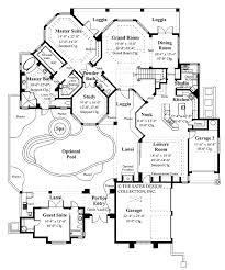 Mediterranean Style House Plan 4 Beds 3 5 Baths 3792 Sq Ft Plan 16 X 50 Floor Plans