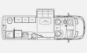 Small Rv Floor Plans Type B Rv Floor Plan Google Search Camping Cargo Trailers