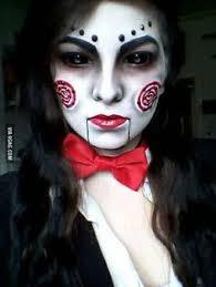 Saw Costume Jigsaw Halloween Make Up Halloween Pinterest Costumes