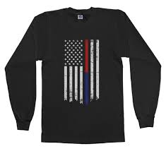 Black And White Us Flag Threadrock Tees For Adults And Kids Thin Red Blue Line